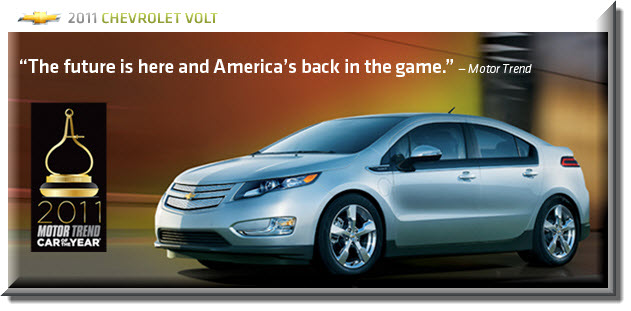 Chevy Volt - Motor Trends 2011 Car of the Year