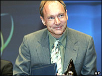 Tim Berners-Lee, Internet inventor, BBC image