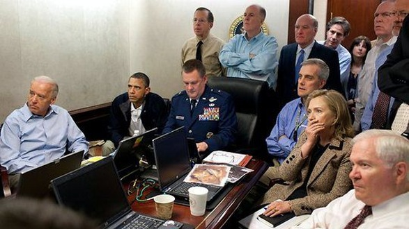 White House watches bin laden or The Office final episode