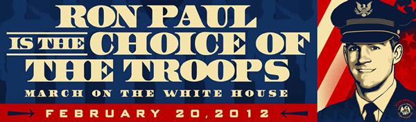 Vets March for Ron Paul - Click for rally details