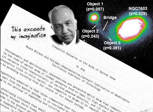 Chandrasekhar's Rejection of Halton Arp and direct observation through the telescope
