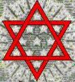 Star of David on back of US one dollar bill.  Courtesy of The Free American and Clay Douglas.