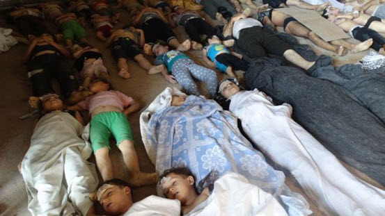 Sarin gas victims in Ghouta, Syria - credit unknown
